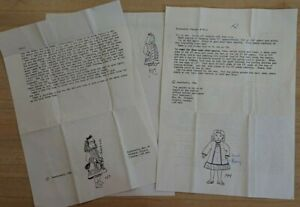 """2 x vintage sewing patterns, dolls house doll, approx 4.5 """". Swallowhill 1986."""