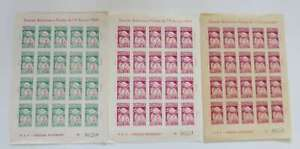 POLAND 1959 POZNAN BALLOON STAMPS 3 different full sheets mnh**/di913