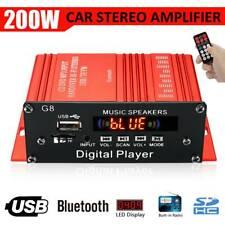 200W 12V Car HIFI Audio Stereo Power Amplifier Bluetooth FM-Radio USB Remote