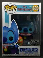 Funko Pop + Protector! Disney #605 Lilo & Stitch - Halloween Stitch (FYE) *Mint*