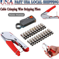 Coaxial Compression Tool Coax Cable Crimper Kit for F Connector Rg6 Rg59 Catv Tv