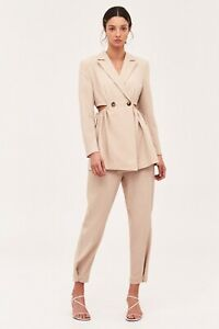 C/MEO collective Advice Beige Cut Out Blazer Size XS 8 Worn Once