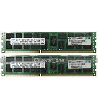Samsung 16GB 2X8GB 2Rx4 PC3-10600R DDR3-1333MHz 240Pin ECC Reg Server Memory RAM