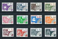FRANCE MNH** '12 MONTHS OF THE YEAR' 1985/7 YT #186-197. SG 2658 etc. PRECANCELS