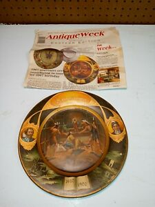 "Vienna Art Plate 1907 ""Jamestown"" John Smith Pocahontas W.H. Owens & Company"