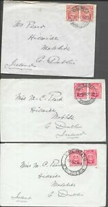 SOUTHERN RHODESIA 1926 3x 2d COVERS BULAWAYO