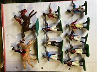 RARE INNOVATIVE AWI FIGURES ON HORSE AND FOOT 1970s RE-PAINTED