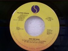 """TALKING HEADS """"AND SHE WAS / 4:30 VERSION"""" 45 NEAR MINT"""