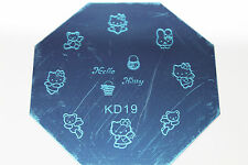 Stamping Device Nail Art Plate Hello Kitty KD19