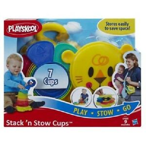 NEW HASBRO PLAYSKOOL STACK N STOW CUPS INFANT ACTIVITY TOY B0501