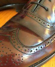 USA Made 9.5D Johnston & Murphy Crown Aristocraft Wingtips Burgundy Leather