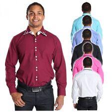 Markenlose bequem sitzende unifarbene Herren-Freizeithemden