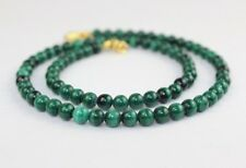 "Malachite Necklace Green Necklace 5mm 16"" Round Beads Malakite Natural Stone"
