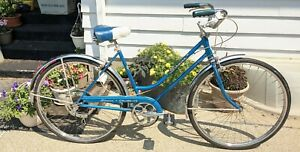 1969 Vintage Schwinn Collegiate 5 speed Cruiser Women Frame Bike Blue BEAUTIFUL