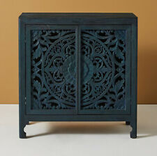 Wooden hand carved black traditional cum modern sideboard