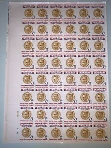 US Stamps SC# 1096 Ramon Magsaysay 8c sheet of 48 MNH 1957