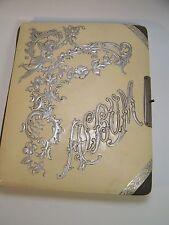 Antique Victorian Photo Album 15 Pictures Celluloid Ivory Silver  Angel Vintage