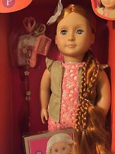 "Our Generation Patience 18"" Hair Grow Red Head Styling Doll w/Book & Accessories"