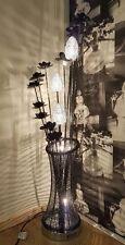 Black Floor/Table/Desk Aluminium Flower lamp