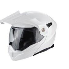 Casco Scorpion Adx-1 Solid White Pearl talla M