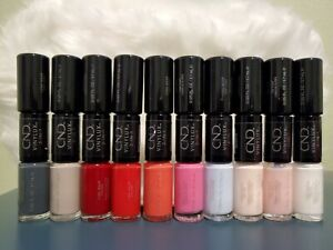 New CND Vinylux 2 in 1 Long Wear Nail Polish With Shiny Top Coat *Lot 10x