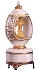 "Sf Music Box Cross Inspirational Egg, Plays ""Amazing Grace"" Nib"
