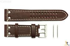 Luminox 1887 Field 26mm Brown Leather Steel Buckle Watch Band Strap