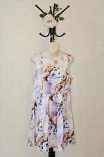✿♡ 'Sophia' Womens Dress Size 14 (Floral Satin) ♡✿