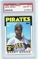 BARRY BONDS 1986 Topps Traded Rookie Card RC PSA 10 Gem Mint #11T Pirates