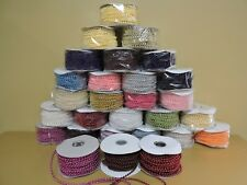 24 YARDS 4MM FAUX PEARL PLASTIC STRING ROLL Pick colors Ivonne's Party Creations