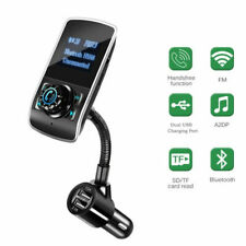 Car FM Transmitter Wireless Kit MP3 Player Bluetooth AUX Port Dual USB Charger