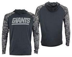 Zubaz New York Giants Mens Size 2X-Large Gray Post Lightweight Hoodie C1 1193