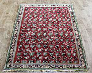 PERSIAN TRADITIONAL ANTIQUE Wool  3 X 5.6 FT ORIENTAL RUG HANDMADE CARPET RUGS