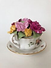 Royal Albert Old Country Rose Cup Of Soup Bouquet Limited 5627/14000 Music Box