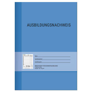 Berichtsheft Ausbildung / Ausbildungsnachweisheft täglich / wöchentlich, DIN A4