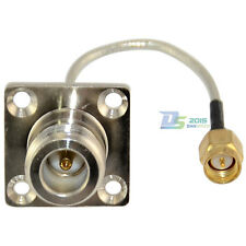 SMA Male to N Type Female Flange Coax Pigtail Semi-rigid RG405 Cable 4inch Hot