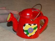 Mary Engelbreit Ink Red Watering Can Heart Ornament Decoration