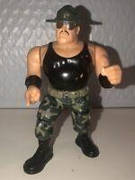 WWF Hasbro Sgt Slaughter WWE Wrestling Action Figure Sargent Vtg