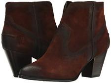 NIB Frye Women's Renee Seam Short Leather Ankle Booties Brown Suede 72064 9.5