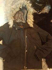 Ladies Winter puffy Faux Fur hood jacket size 12 by next