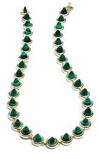 Eddie Borgo Malachite and Yellow Gold Cone Necklace