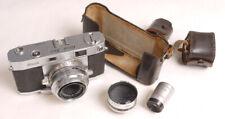 Ricoh 500 35mm Rangefinder Camera Set w/Auxiliary Telephoto Lens & Finder - TLC