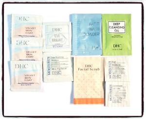 DHC Japanesse Beauty Expert x11 Samples Moisturize Eye Scrub Oil UNUSED FREE P&P