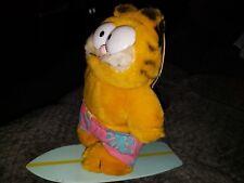 1981 Surf Board Plush Garfield Kitty Cat Swim Trunks Shorts Vintage Dakin Tags
