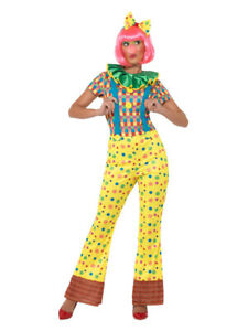 Giggles The Clown Lady Costume, Multi-Coloured