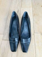 MARKS & SPENCER Footglove Wide Fit UK 5.5 Dark Brown Leather Shoes Slip On M&S