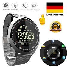 Bluetooth Sport Smartwatch Armbanduhr Wasserdicht Schrittzähler für Android iOS