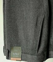 MENS M&S 46 W 33 L GREY TAILORED FIT WOOL RICH STRETCH TROUSERS FREE POST