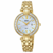 Seiko Women's Analog Display Japanese Quartz Gold Watch SUT182