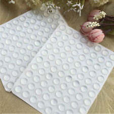 "100 Pcs 0.3"" Self-Adhesive Rubber Feet Round Door Bumpers Buffer Pad Protector"